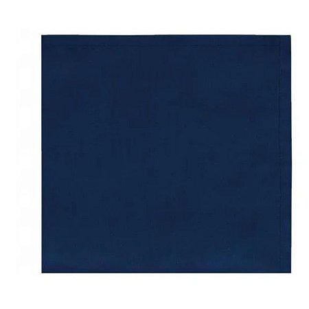 Conjunto de Guardanapos Home 4 Pcs  Azul Marinho 40x40cm 100% Algodão Copa e Cia