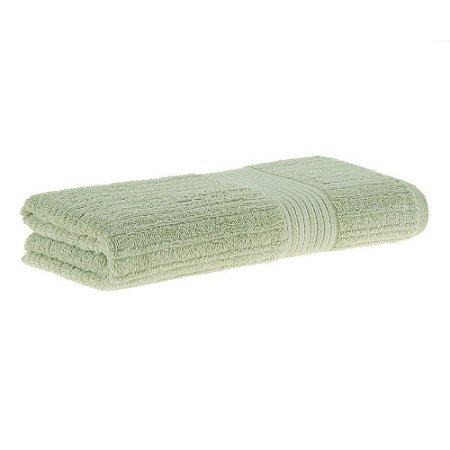 Toalha banho fio penteado canelado 70x140 verde Buddemeyer