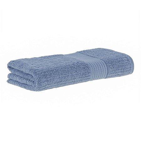 Toalha banho fio penteado canelado 70x140 azul Buddemeyer