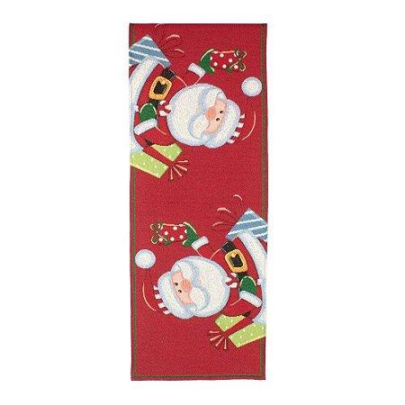 Caminho De Mesa Avulso Noel Vermelho E Branco (33x180cm) Cromus