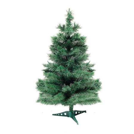 Arvore De Natal Santa Lucia Verde Base Plástico 90cm Cromus