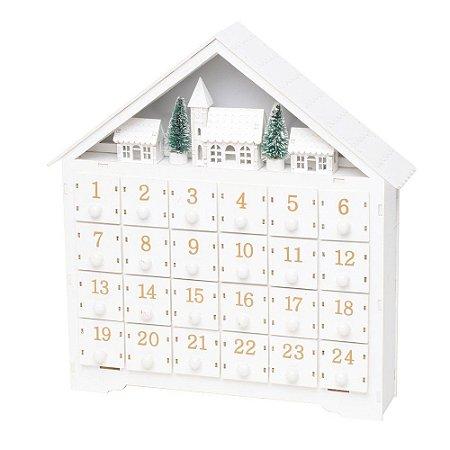 Calendario C/Led Casa Natalina (Wood Mood) 1UN Cromus