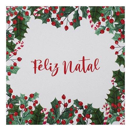 Guardanapo Feliz Natal Claro (32,5x32,5) C/20 Folhas Cromus