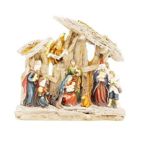 Presepio De Natal Em Resina Claro 1Un. Cromus