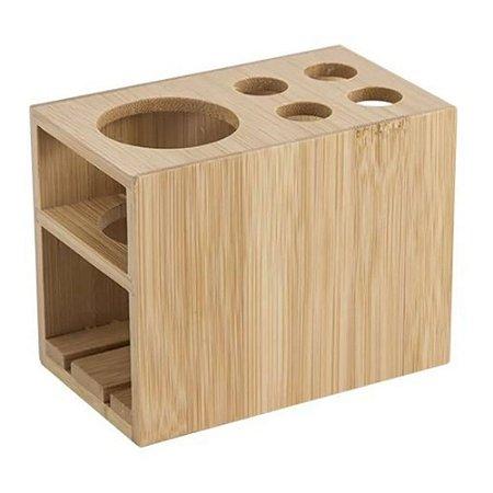 Porta Escova E Pasta De Dente Em Bambu Mimo Style