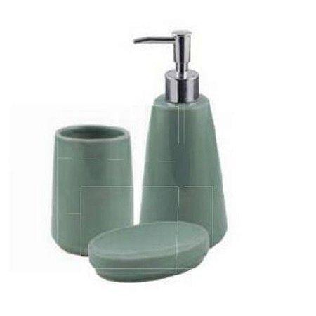 Jogo De Banheiro Pale Green 3pçs Mimo Style