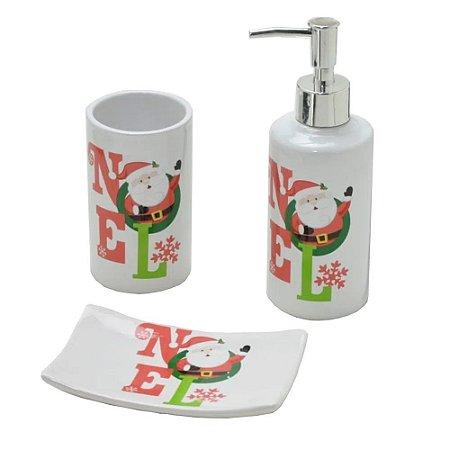 Kit de Banheiro/Lavabo 3 Peças Natal Mabruk