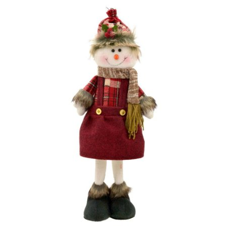Boneco De Neve Decorativo c/ Cachecol Natal Mabruk