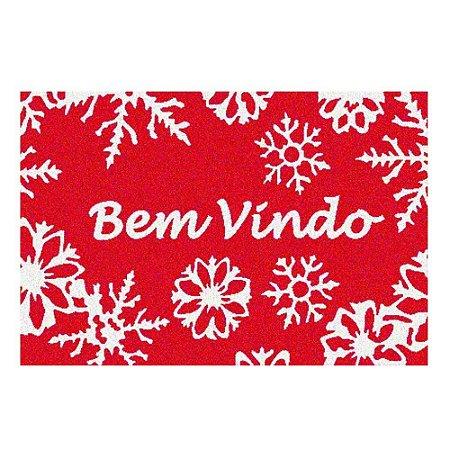 Capacho Natalino Bem Vindo Vermelho E Branco Natal Mabruk