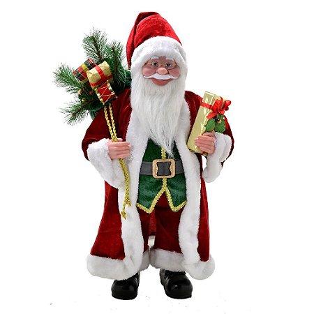 Papai Noel Vermelho E Branco Com Presente Natal Mabruk