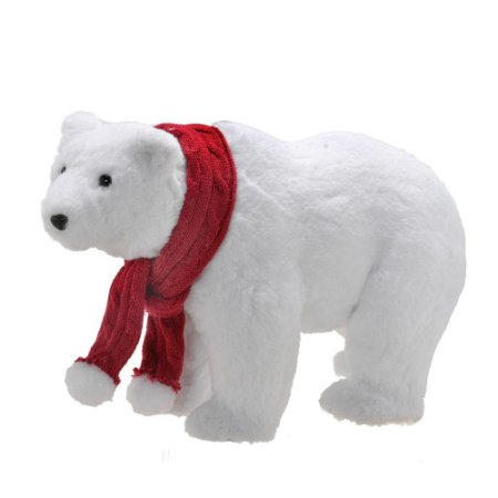 Urso Polar Natalino M Com Gorro Vermelho Natal Mabruk