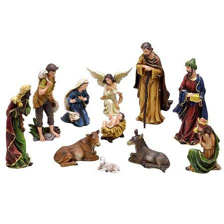 Presépio Natalino Menino Jesus Com 11 Peças Natal Mabruk