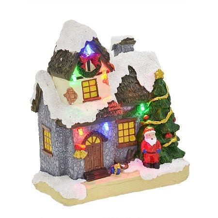 Vila Natalina Com Luzes, Papai Noel E Pinheiros Natal Mabruk