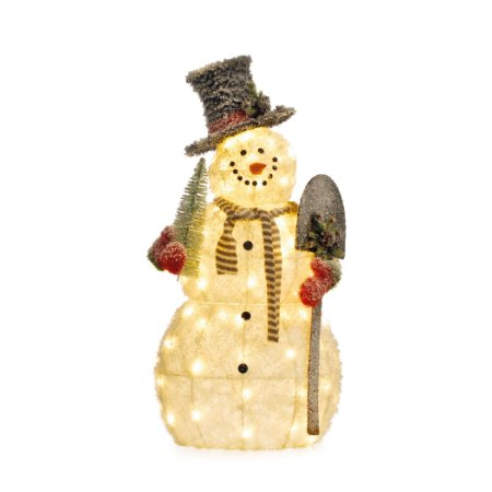 Boneco de Neve Natalino com Pa Branco 220w 1un Natal Cromus
