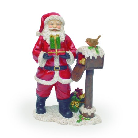 Papai Noel Vermelho Branco em Resina Presente Natal Cromus
