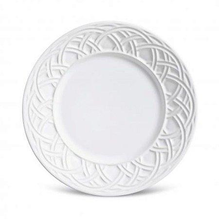 Conjunto pratos para sobremesa cestino branco 6un. porto brasil