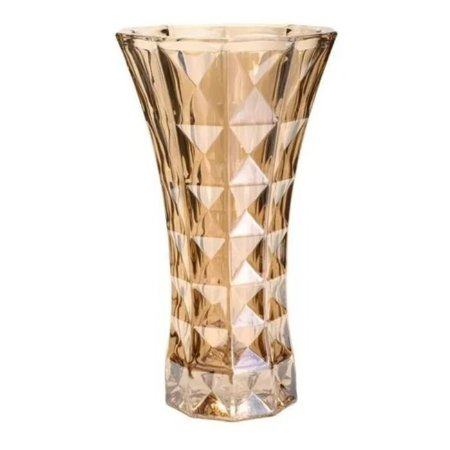 Vaso Cristal Diamant Ambar 15x26cm Wolff