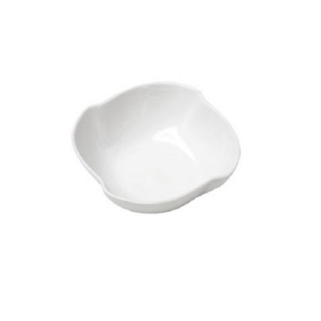 Conjunto de 4 Petisqueiras Porcelana Branco  10x10x4cm