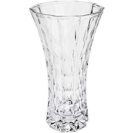 Vaso Cristal Diamant Transparente 14x26cm Wolff