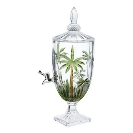 Suqueira Dispenser Cristal Palm Tree 4 litros