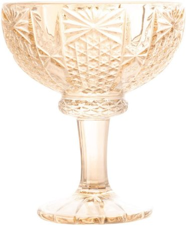 Conjunto de 6 Taças pra Sobremesa Princess Champanhe 260ml