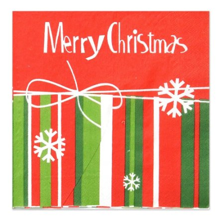 Guardanapo Natalino de Papel 20 folhas Merry Christmas Mabruk