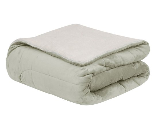 Coberdrom Flannel Sherpa  Off White 2,45x2,20M Casal/Queen Naturalle