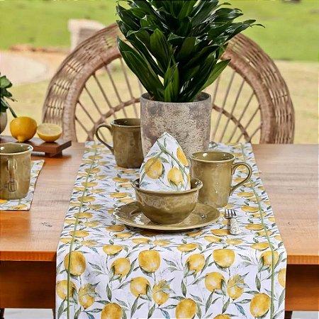 Caminho de Mesa Classic Lemon Limão Copa e Cia