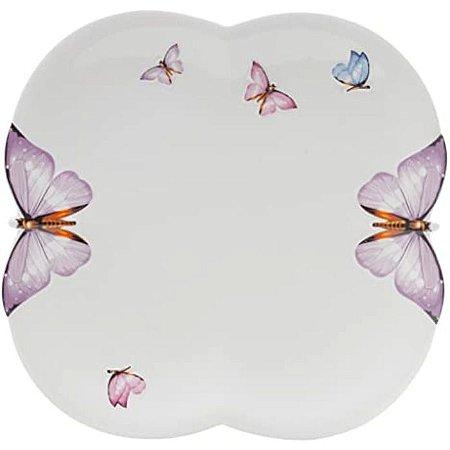 Conjunto de 6 Sousplats Porcelana  Borboletas 27cm Wolff