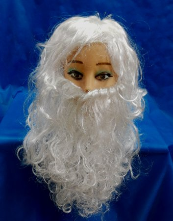 Barba Papai Noel com Peruca
