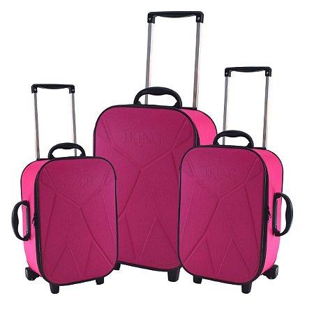Conjunto de malas de viagem - Rosa