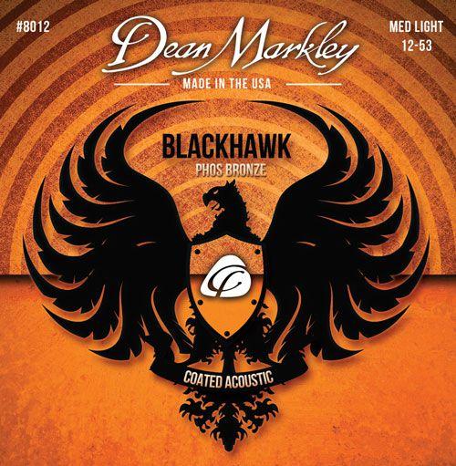 Jogo de cordas Dean Markley Blackhawk 012 Phosphor Bronze Violão Aço