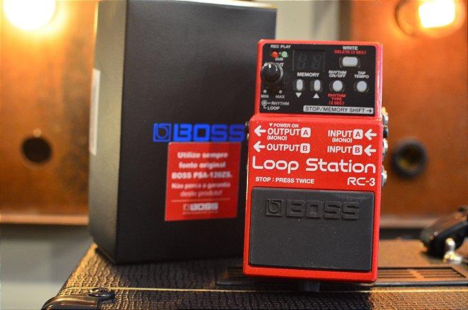 Pedal BOSS Loop Station RC-3 (semi-novo)