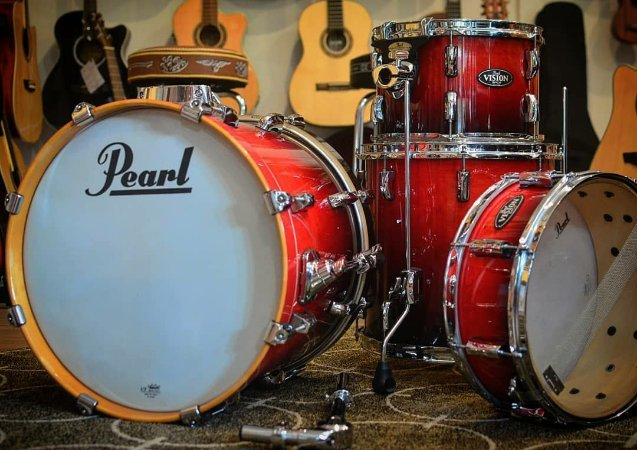 Bateria Pearl Vision Birch Shell Pack (4 tambores)