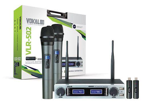 Microfone Vokal VLR502 (Duplo)