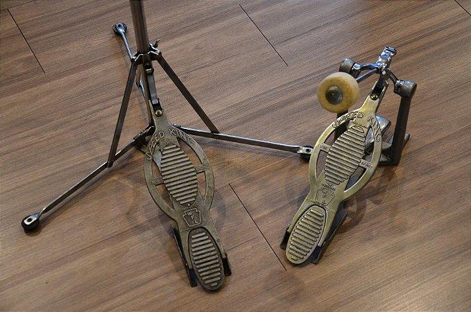 Ludwig Speed King 1959 Pedal e Maquina Hi Hat