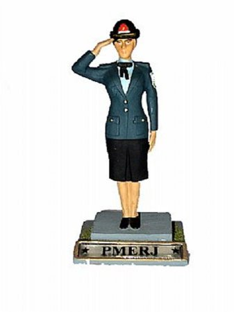 Boneca de chumbo Policial Militar (continência)