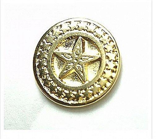 Botão de Metal Estrela Grande (Dourado)