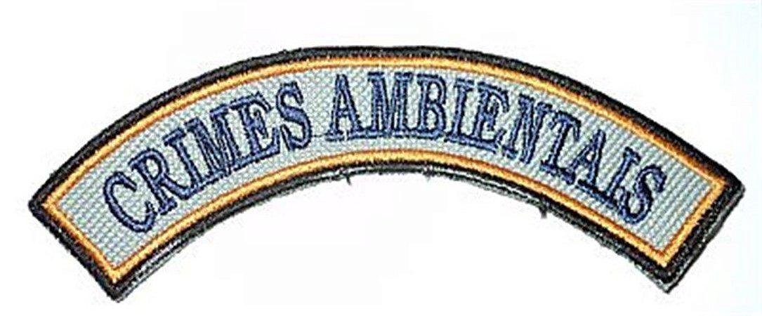 Listel bordado CRIMES AMBIENTAIS