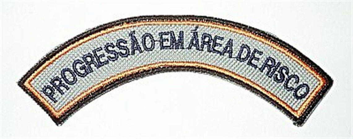 Listel bordado PROGRESSÃO EM ÁREA DE RISCO