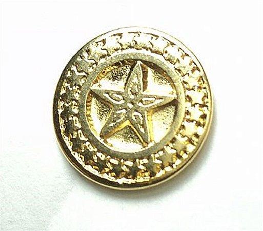 Botão de Metal Estrela Pequeno (Dourado)