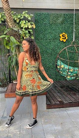 Vestido Farm Lenço Brasil Tropical - 298056