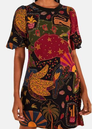 Vestido Tecido Farm Tshirt Beleza Mix - 296049