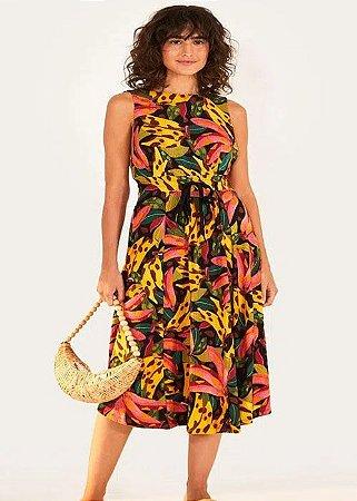 Vestido Tecido Farm Gode Banana Pintada - 296495