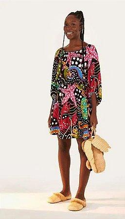 Vestido Tecido Farm Cropped Mar de Bolinhas - 294657