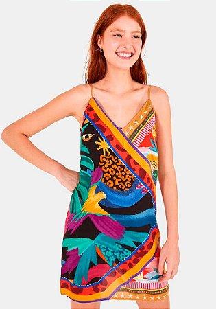 Vestido Farm misturinha de lenços -291629