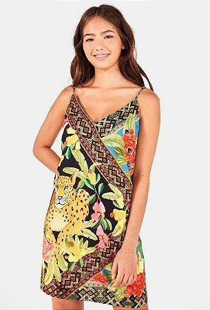 Vestido Farm Lenço Postal - 291638