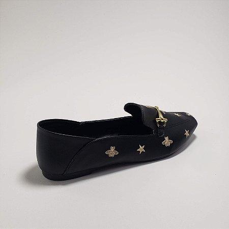 Mocassim Azul Marinho - QG Samira - Calçados Femininos
