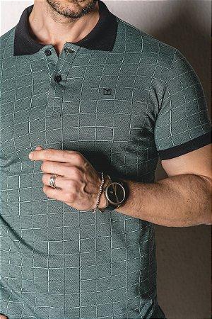 Camisa Gola Polo detalhes verde