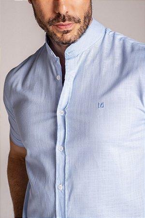 Camisa Gola Padre Manga Curta Azul